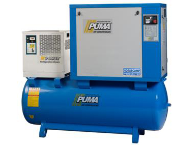 Screw Air Compressors With Tank